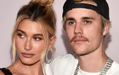 Justin and Hailey Bieber Meet With French President in Paris: Pics!
