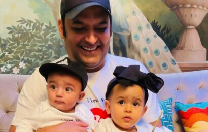 Kapil Sharma shares first photo of son Trishaan, daughter Anayra on Father's Day