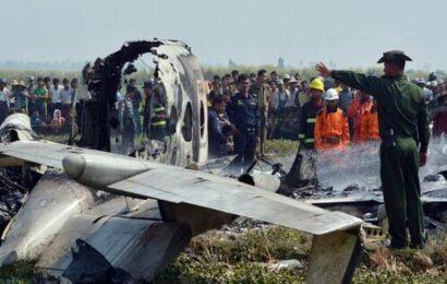 Military plane crashes in Myanmar, killing 12