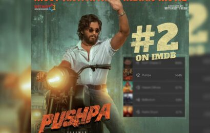 Pushpa rated 2 in the list of IMDB Most Anticipated Movie in India