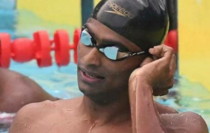 Sajan's new personal best in 100m butterfly