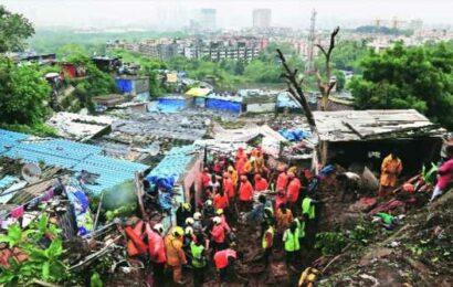 32 killed as intense rain triggers landslides, leaves Mumbai flooded