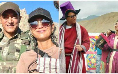 Aamir Khan, Kiran Rao don Ladakhi attire as they dance together on Laal Singh Chaddha sets. Watch
