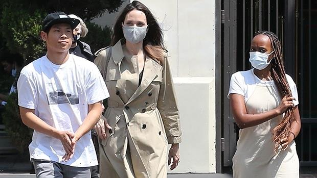 Angelina Jolie Shops With Zahara, 16, & Pax, 17, Amidst Buzz She Could Be Dating The Weeknd