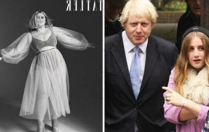 Boris Johnson's daughter flaunts curves in boob-baring underwear as she talks Kardashians