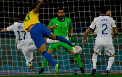 Brazil hangs on against Chile