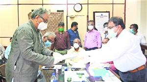 Jawhar Sircar files nomination as TMC's Rajya Sabha candidate