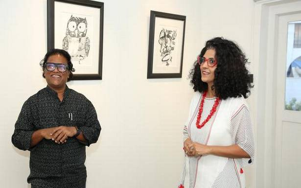 Laxman Aelay's 'Inked Images' on birds, animals and urban spaces