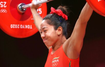 Mirabai's mom in tears as daughter sports 'good luck' earrings