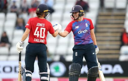 Nat Sciver powers England to 18-run win over India in rain-hit first T20I