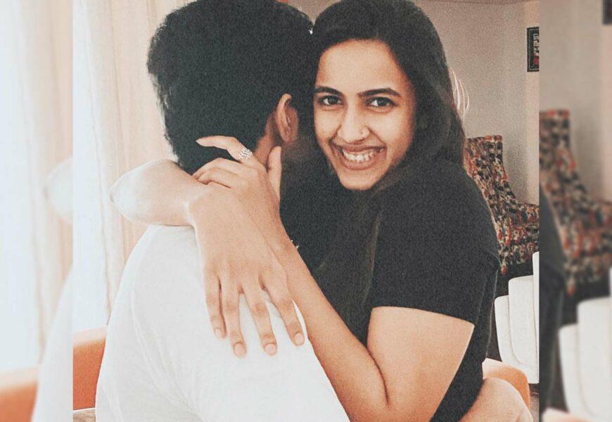 Niharika with her fiance