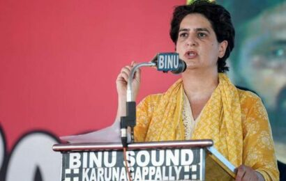 Property on which UP CM is sitting belongs to people, can be confiscated by them: Priyanka