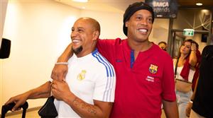 Real Madrid Legends vs Barcelona Legends: Ronaldinho rolls back the years, hits crossbar