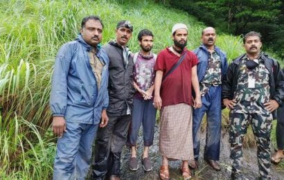 Squad rescues youths from Amarad dense forest in Kozhikode