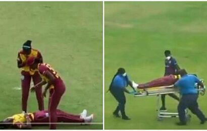Two West Indies players stretchered out in T20I against Pakistan