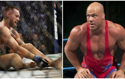 WWE legend Kurt Angle trolls Conor McGregor after ankle injury in UFC 264
