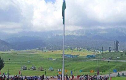 100-feet Tricolour in Gulmarg, Kashmir