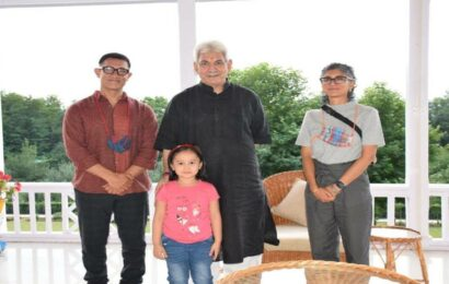 Aamir Khan and Kiran Rao discuss 'reviving Jammu and Kashmir glory in Bollywood' with JK Lt Governor, see photo