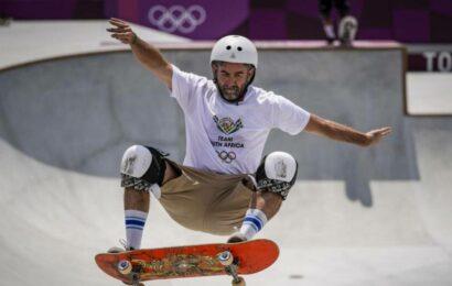 At 46, skating nomad-turned-Olympian Oberholzer inspiring youth, impressing mum