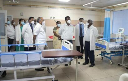 Collector opens integrated vaccine centre at Velammal Medical College