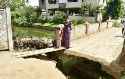 Damaged bridge poses a risk to residents
