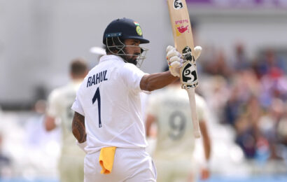 Day 2: Rahul Shines on Dull Day