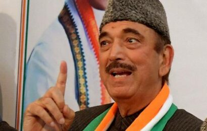 Ghulam Nabi Azad urges Centre to implement its assurance to J&K leaders on statehood in 'short-term'