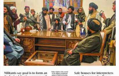 How newspaper frontpages showed the Taliban's return