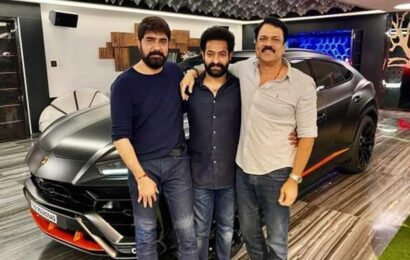 Jr NTR becomes first Indian to own Lamborghini Urus Graphite Capsule, check out actor's viral photo