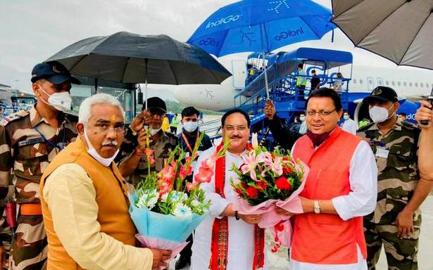Nadda arrives on 2-day visit to Uttarakhand to gear up BJP for 2022 assembly polls