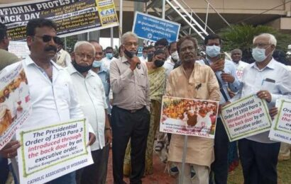 Protest held over discrimination against Dalit Christians