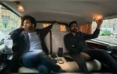 RRR new video: Ram Charan and Jr NTR listening Dosti song in swanky vehicle