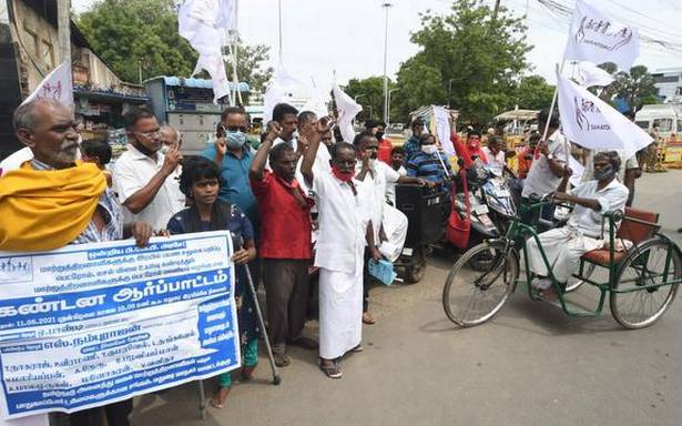 Railways is denying right to mobility, disability rights organisation says, stages protest in Madurai