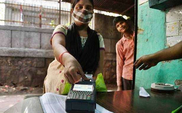 Ration distribution picks up pace after server glitches