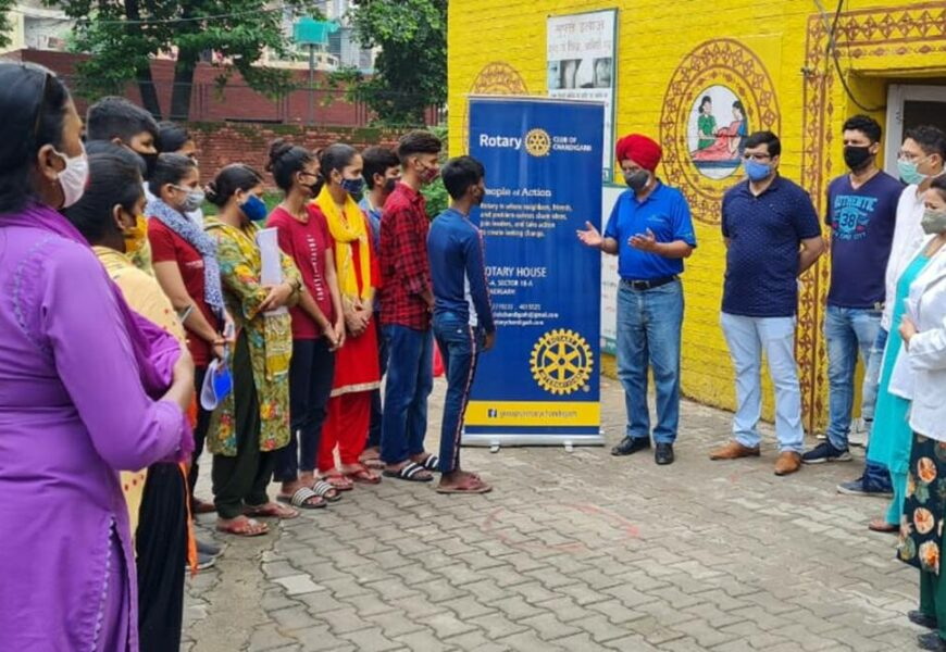 Rotarians promote vaccination, help Covid orphans
