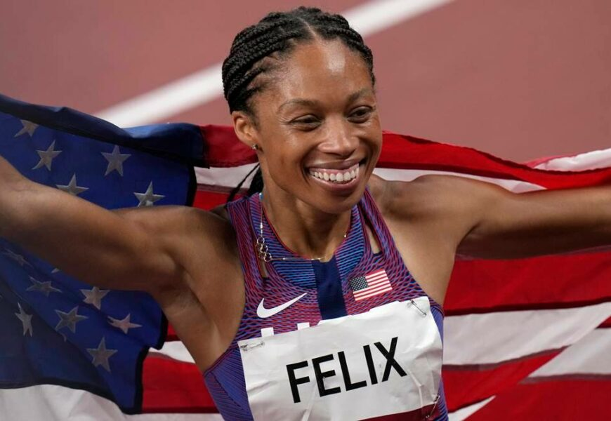 The long journey leads to an Olympic record for Felix