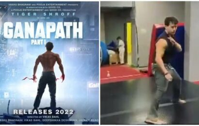 Tiger Shroff shares sneak peek into action prep for Ganapath: 'This is just the beginning'