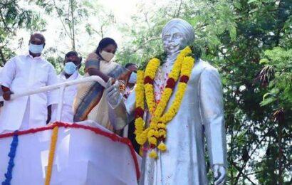 100th death anniversary of Tamil poet Subramania Bharathi observed