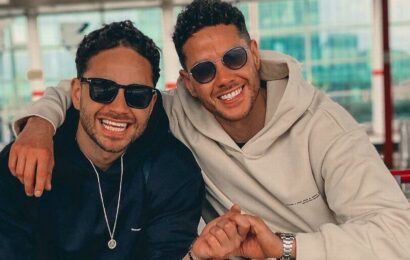 Adam Thomas and twin Scott spotted at I'm A Celeb castle as it gets renovated ahead of 2021 series