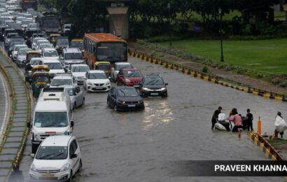After heavy rain, many roads and underpasses left waterlogged across Delhi