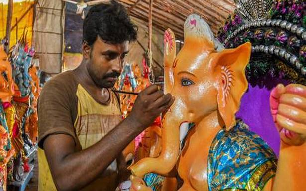 Ban on public celebrations lands idol makers in a spot