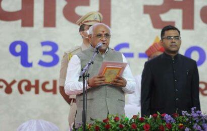 Bhupendra Patel sworn in as Gujarat CM