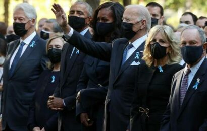 Biden marks 9/11 anniversary with tribute, call for unity