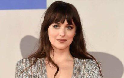 Dakota Johnson Wore a Completely Sheer Bejeweled Dress at the Venice Film Festival