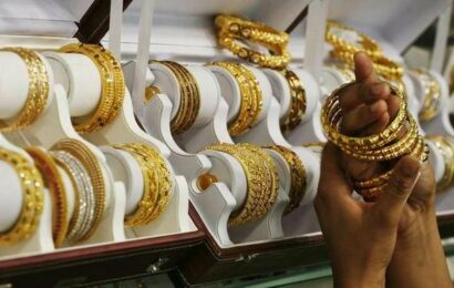 Gold marginally down; silver gains ₹40