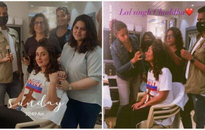 Kareena Kapoor is back on the sets of Laal Singh Chaddha, shares photos with her team