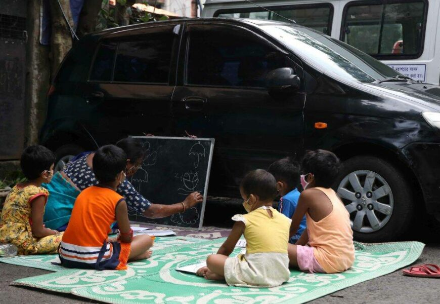 Kolkata: For young learners, open spaces turn into schools