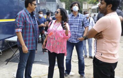 Raadhikalovely meeting with sweetheart Venkatesh Daggubati