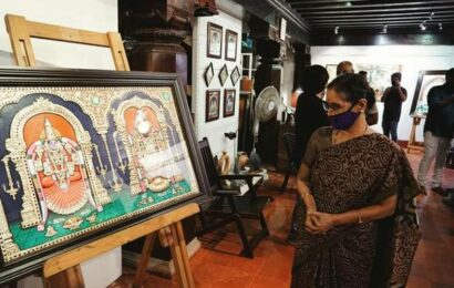 Tanjore paintings on display in city